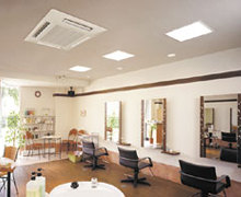 commercial installation or air conditioning units for places such as hai and beauty salons